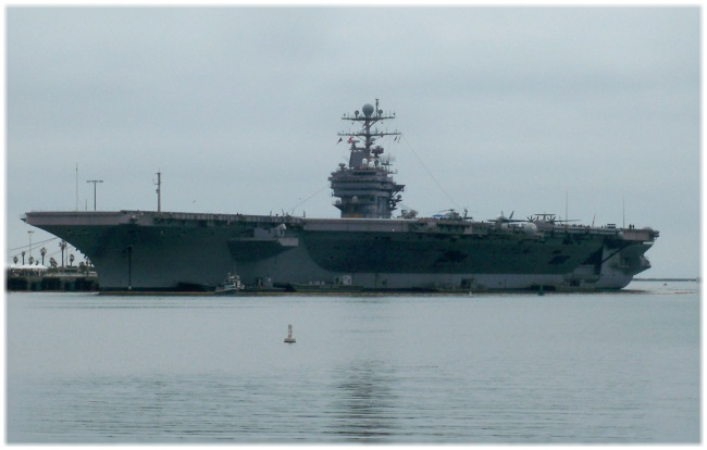 Mighty Abe - USS Abraham Lincoln moored in San Pedro (Los Angeles) Harbor