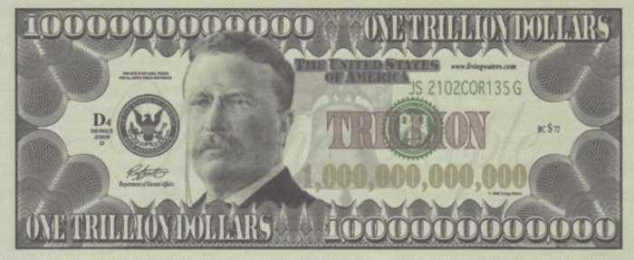 Teddy Trillion Dollar Bill