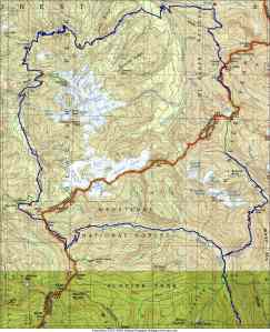 Map of the Glacier Peak Area